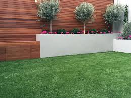 artificial grass raised beds hardwood screen privacy trellis fence