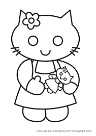 kitty coloring sheets