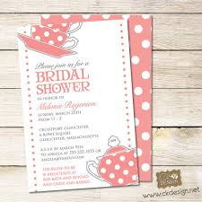 bridal shower tea party invitations wedding shower tea party
