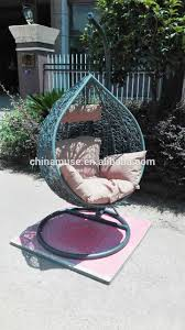 Indoor Hanging Swing Chair Egg Shaped Luxury Indoor Patio Garden Rattan Egg Shaped One Person Seat