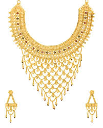 plated choker necklace images Buy designer necklace sets filigree design gold plated choker jpg