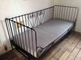 Ikea Metal Daybed Ikea Meldal Black Metal Daybed With Ikea Sultan Mattress In