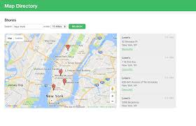 New York City On A Map by Build A Map Directory Or Store Locator App U2013 Knack