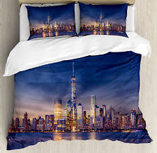 New York City Duvet Cover Skyline Bedding Ebay