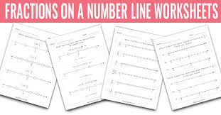 fractions on the number line worksheet fractions on a number line worksheets math worksheets easy