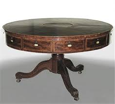 rent table mahogany rent table leather top