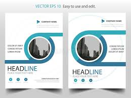 circle layout vector blue circle annual report brochure design template vector business