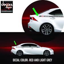 lexus ireland warranty decal stripes fits lexus rx is ct es gs ls nx gx lx rc