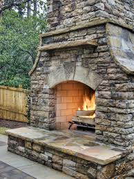 patio build your own outdoor fireplace designs with white padded