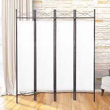 Metal Room Dividers by Amazon Com Jaxpety 4 Panel Room Divider Privacy Screen Home