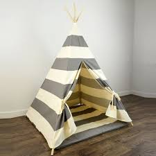 Kids Teepee by Kids Play Teepee And Play Mat In Gray And Natural Beige Khaki