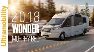 2018 leisure travel vans wonder murphy bed class b campervan on
