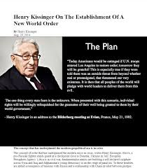 Henry Kissinger On The Establishment Of A New World Order INFOWARS COM BECAUSE THERE     S A Pinterest