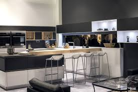 Cream And Black Kitchen Ideas by Cream Breakfast Bar Simple Wooden Block 3 Bar Stools Gray Island