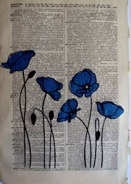 poppy writing paper blue poppies home sweet home pinterest blue poppy fabrics blue poppies