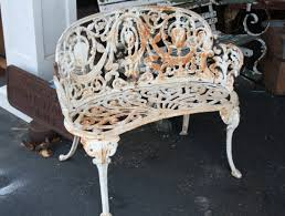 Cast Aluminum Patio Table And Chairs by Bench Cast Aluminum Garden Benches With Examples Of Appropriate