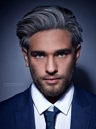grey streaks in hair fashionable gray hair color with black streaks for men