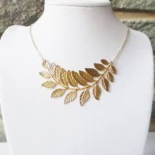 bridesmaid statement necklaces leaf statement necklace bib necklace bridesmaid gifts choker