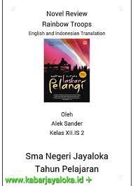 cara membuat novel bahasa inggris contoh tugas resensi bahasa inggris novel laskar pelangi