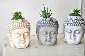 face planters buy buddha planters for cacti and succulents pot head buddha on