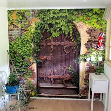Garden Mural Ideas Garden Wall Murals Ideas Satuska Co