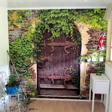 Garden Mural Ideas Garden Wall Murals Ideas Satuska Co
