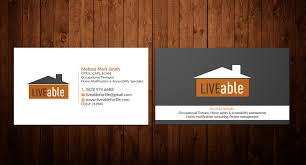 bold playful business card design for liveable llc by hmk