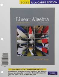 linear algebra and its applications books a la carte edition 4th