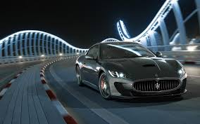maserati gt black black maserati granturismo mc stradale city night widescreen