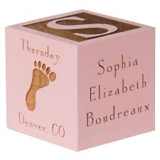 baby engraved gifts personalized baby gift baby block pink baby girl gift
