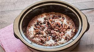 slow cooker german chocolate spoon cake youtube