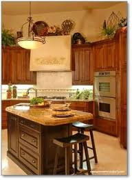 Kitchen Theme Ideas For Decorating Great Idea For Decorating The Empty Space Above An Armoire Or