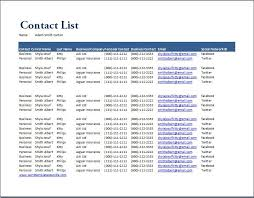 excel contact list template sogol co