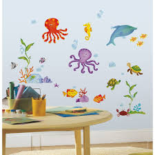 45 ocean wall decals ocean wall decals with yellow submarine wall ocean wall decals