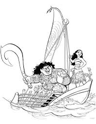 20 coloring pages of moana on kids n fun co uk on kids n fun you