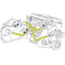 1992 corvette parts 1992 corvette engine cooling system rubber hose set lt1 davies