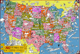 United States Map Poster by Usa Pictorial Map