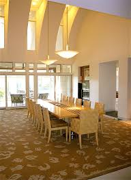 Can Lights For Vaulted Ceilings by Interdesign In Dining Room Contemporary With Vaulted Ceiling