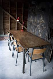 interior vintage industrial dining room table with wonderful