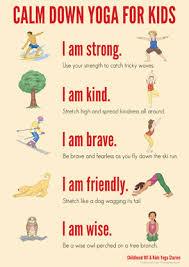 calm down yoga routine for kids printable childhood101