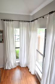 how to make no sew bleached drop cloth curtains our handcrafted life