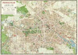 Berlin Map Cavallini Berlin Map Wrapping Paper Paper Papier
