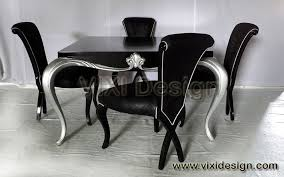black and silver dining room set inspiring nifty creative of
