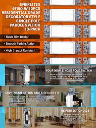 amazon com decorator rocker light switch by enerlites 91150 w 15