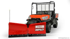 impact utv snowplows western products western products