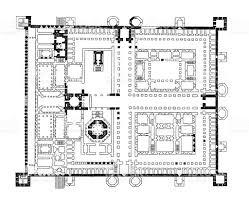 floor plan of diocletians palace in split stock vector art