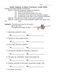 simple predicate worksheets mreichert kids worksheets