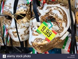 venetian masks for sale venetian masks for sale with price tag stock photo royalty free