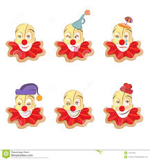 clown face set royalty free stock image image 11241156