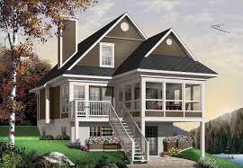 four seasons sloping lot cottage 21571dr architectural designs
